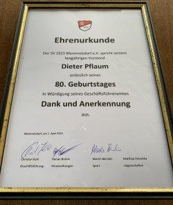 Dieter Pflaum feiert seinen 80sten (1.4.2021)